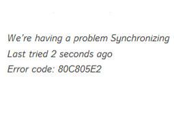 Error 80c805e2